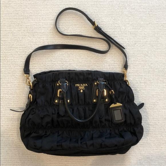 71cf05a29986 Prada Bags | Tessuto Gaufre Black Authentic | Poshmark